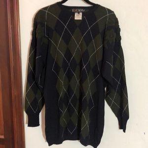 Vintage Escada argyle sweater